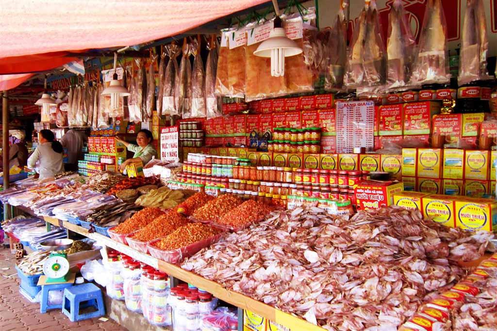 Quán hải sản khô Nha Trang